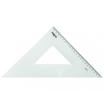Geodriehoek 45o / 22x22 cm