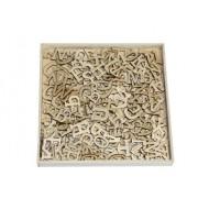 Houten ornamentbox kleine letter 12 mm